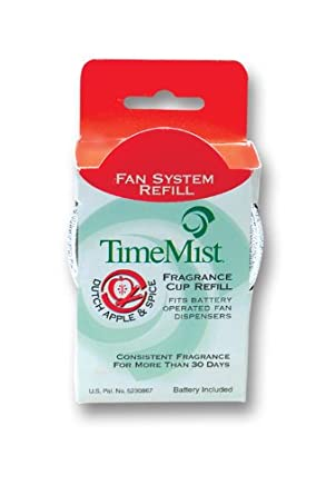 TimeMist 304601TM Dutch Apple and Spice World Of Fragrance Refill NonMetered Air Freshener (Case of 12)