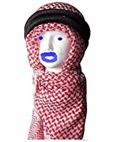 Authentic and NEW Head Shemagh Arab Kafiya Keffiyeh Kufiya with Agal Red & White the Same Israel, Palestine and British SAS Military USE Unique and Retro Look, Soft and Lightweight Great and Cool Unisex Accessory