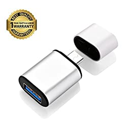 Vogek Superminiature Aluminum USB C to USB A Adapter, USB C / Type C Male to USB A Female,OTG Adapter for New Macbook, Google Chromebook Pixel, Nexus 6P, Nexus 5X and other Type C Supported Device.