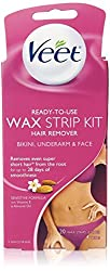 Veet Body, Bikini and Face Hair Remover Wax Kit, 20 Count (Pack of 2)