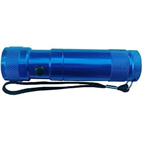 SE 8 LED + 1 Laser Pointer Flashlight, Blue