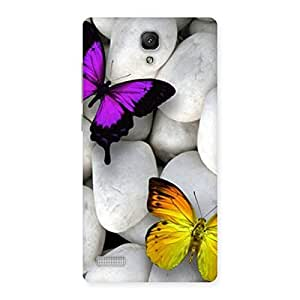 butterflies-white-stones Back Case Cover for Redmi Note Prime