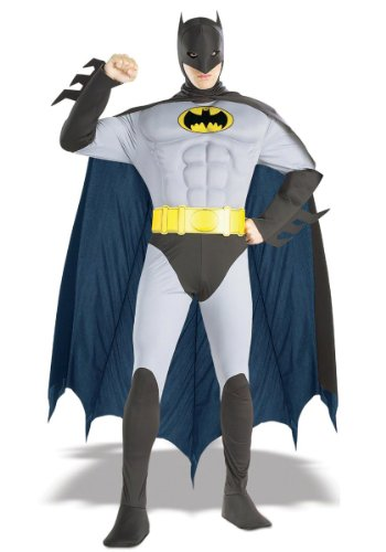 Muscle Chest Batman Costume - Large - Chest Size 42-44