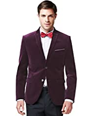 Limited Collection Pure Cotton Super Slim Fit Peak Lapel Jacket