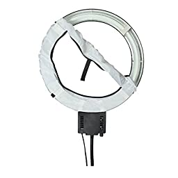 [US] Studio 65W Continusous Fluorescent Dimmer Control Knob Ring Light Lamp