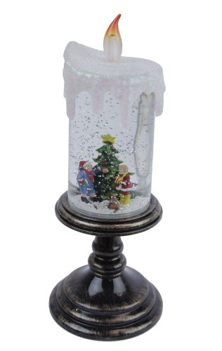 Gerson Led Sparkling Children Candle Snow Globe