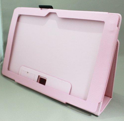 Homu HomuXperia Tablet Z SO-03E全11色PUレザーケース PUレザーカバー エクスペリアタブレットZ レザーケースレザーカバースタンド機能付 ペンホルダー付/SGP312JP (ピンク)(24-6)