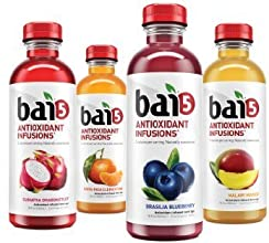 Bai5 5 calorie Variety Pack 100 Natural Antioxidant Infused Beverage 18-Ounce Bottles Green Variety
