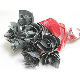 Duct Tape Roses - Flowers for Guys (Set of 3)