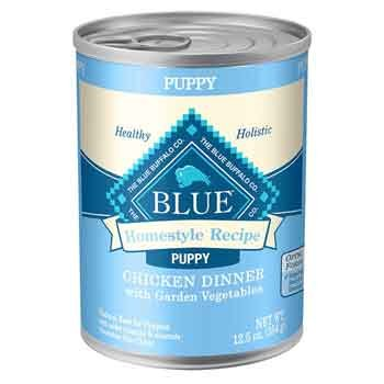 Blue Buffalo Homestyle Recipe Chicken Dinner with Garden Vegetables Canned Puppy Food 12.5 oz. Case of 12 (Blue Buffalo Canned Puppy Food compare prices)