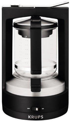 KRUPS KM468850 Moka Brewer Filter Coffee Maker, 10-cup, Black