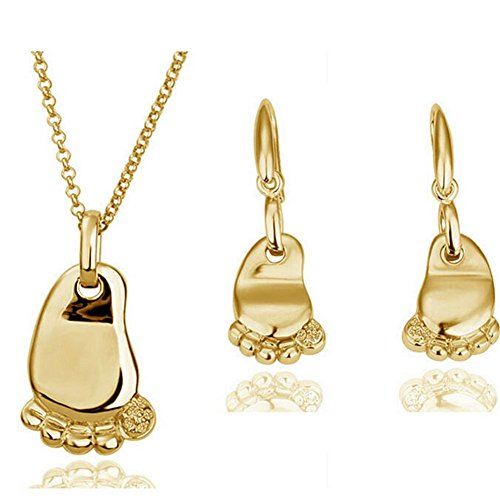 [TERRYFLAIR Little Feet Necklace Set(2)] (Princess Tiny Feet Costume)