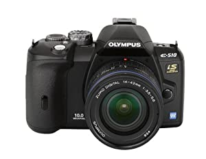 Olympus Evolt E510 10MP Digital SLR Camera with CCD Shift Image Stabilization and 14-42mm f/3.5-5.6 and 40-150mm f/4.0-5.6 Zuiko Lenses