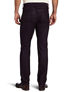 7 for All Mankind Mens Black and Grey Jeans Straight Leg Pant