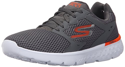Skechers Performance Men's Go Run 400 Running Shoe, Charcoal/Orange, 8 M US