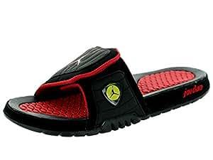 Nike Jordan Men's Jordan Hydro XIV Retro Black/Vrsty Rd/Vbrnt Yllw/Blck Sandal 10 Men US