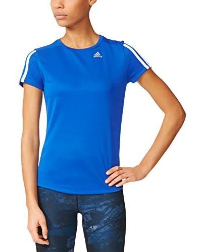 adidas T-Shirt Oz M blau/weiß