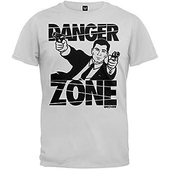 Archer Gun Battle Danger Zone Men's Heathered Athletic Gray T-shirt S