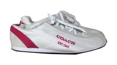 Coach Myla Fashion Sneaker (White/Pink, 8.5)