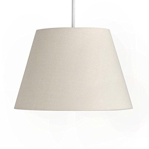 minisun moderner und graubeiger 8 lampenschirm aus stoff f r h nge und pendelleuchte. Black Bedroom Furniture Sets. Home Design Ideas