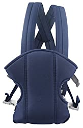 Belle Maison Cotton Adjustable Baby Carrier With Multi Carry Positions Front And Back, Navy