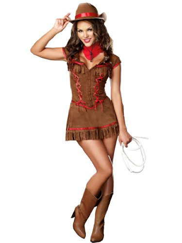 Sexy Cowgirl Costume Dress Western Country Rider Womens Theatrical Costume