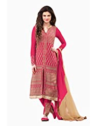 Rapid Dukan Women's Georgette Semi-Stitched Straight Salwar Suit