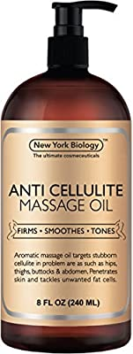 Anti Cellulite Treatment Massage Oil - All Natural Ingredients - Penetrates Skin 6X Deeper Than Cellulite Cream - Targets Unwanted Fat Tissues & Improves Skin Firmness - 8 OZ