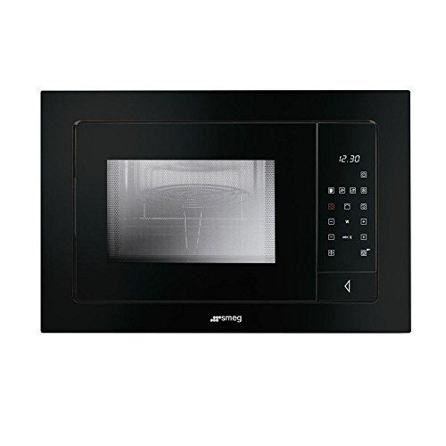 Smeg Linea FMI120N Built-in Microwave with Electric Grill Black