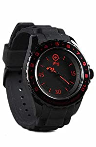 LRG Longitude Watch Black/Red/Black, One Size