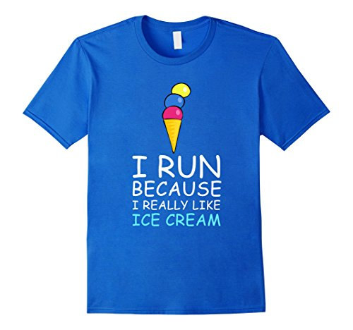 Men's I Run Because I Really Like Ice Cream T Shirt XL Royal Blue (I Run For Ice Cream Shirt compare prices)