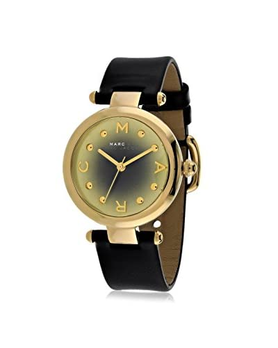 Marc by Marc Jacobs Women's MJ1409 Black/Gold-Tone Leather Watch