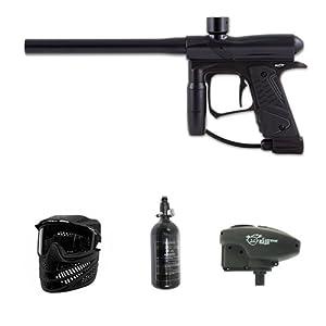 Dangerous Power E1 Paintball Marker - Black Super ER Overdrive N2 Combo