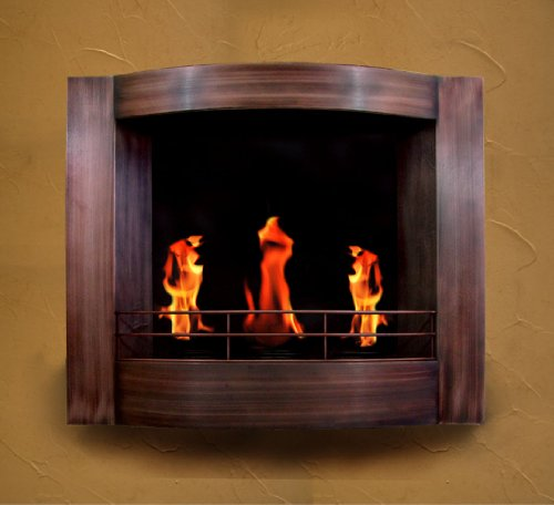 new oil rubbed bronze jel gel fuel wall mount fireplace fire place home and garden. Black Bedroom Furniture Sets. Home Design Ideas