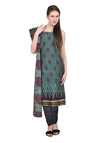 Aryahi Women's Cotton Dress Material (70421_Blue) | Kerala ...