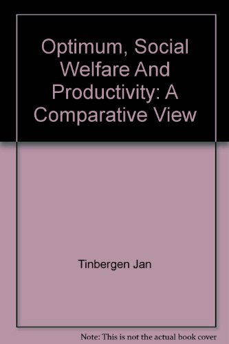 Optimum Social Welfare and Productivity: A Comparative View (The Charles C. Moskowitz lectures)
