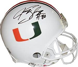 Jeremy Shockey signed Miami Hurricanes Full Size Authentic Helmet by Athlon+Sports+Collectibles