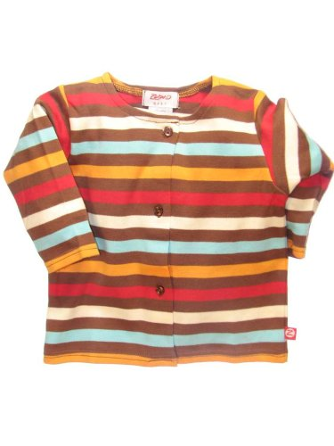 5 Color Stripe Chocolate Jacket by Zutano - Buy 5 Color Stripe Chocolate Jacket by Zutano - Purchase 5 Color Stripe Chocolate Jacket by Zutano (Zutano, Zutano Apparel, Zutano Toddler Boys Apparel, Apparel, Departments, Kids & Baby, Infants & Toddlers, Boys, Shirts & Body Suits)