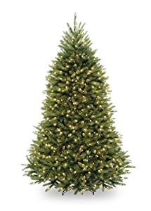 National Tree 6 1/2' Dunhill Fir Tree,  Hinged, 650 Clear Lights (DUH-65LO)