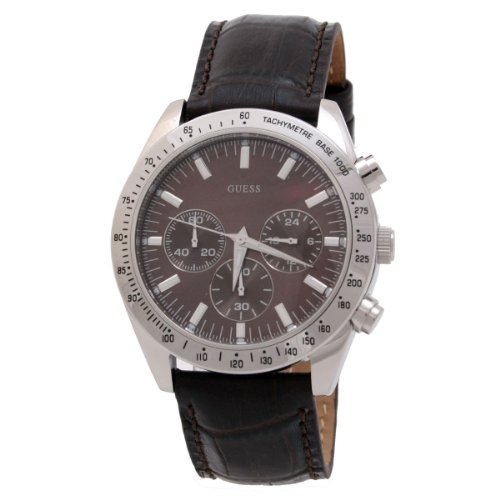 Guess Men's Chronograph Watch W12004G2 with Brown Dial