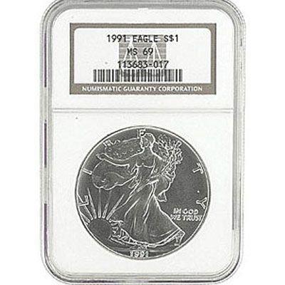 1991 Silver American Eagle MS69