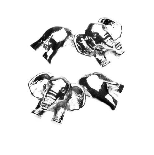 Christopher Simpson Silver Plated Elephant Cufflinks