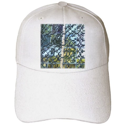 Florene Designer Texture - Wrought Iron and Stained Glass - Caps - Adult Baseball Cap (cap_37335_1)