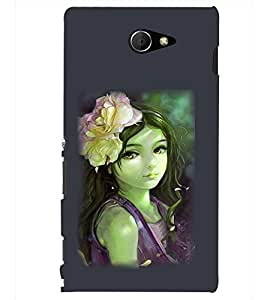 PRINTSHOPPII CUTE GIRL Back Case Cover for Sony Xperia M2 Dual D2302::Sony Xperia M2