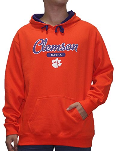 NCAA Youth CLEMSON TIGERS Athletic Pullover Hoodie / Sweatshirt 2XL Orange