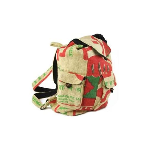 Earth Divas RRBB-1B Recycled Rice Bag - 3 Pocket Backpack B