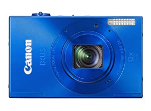 Canon IXUS 500 HS Digitalkamera (10 Megapixel, 12-fach opt. Zoom, 7,5 cm (3 Zoll) Display, Full HD, bildstabilisiert) blau