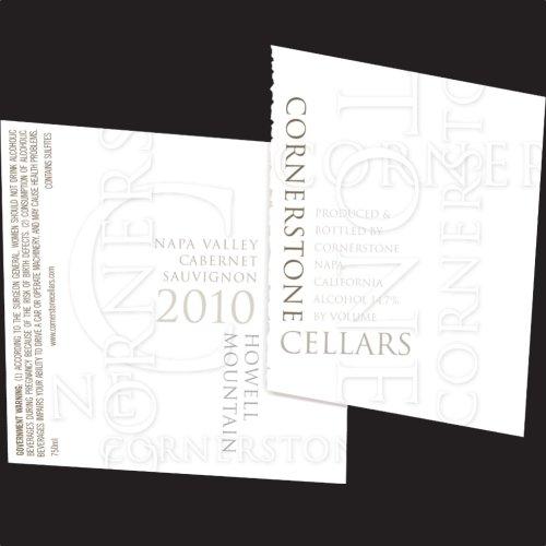 2010 Cornerstone Cellars Howell Mountain Cabernet Sauvignon 750 Ml