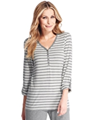 Cotton Rich Striped Pyjama Top