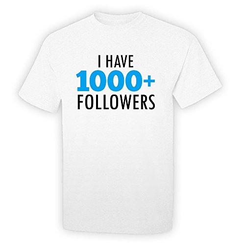 Pop Threads I Have 1000 Followers White 3XL Short Sleeve T-Shirt